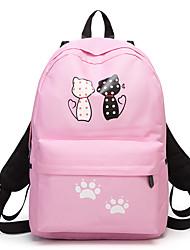 cheap -Women's Bags Oxford Cloth Backpack Pattern / Print Black / Blushing Pink / Gray