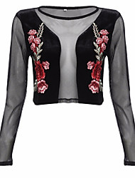 cheap -Women's Going out Street chic Blouse - Floral