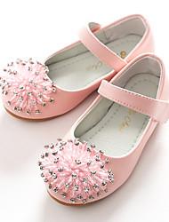 baratos -Para Meninas Sapatos Courino Primavera Sapatos para Daminhas de Honra Bailarina Rasos Gliter com Brilho Velcro para Casamento Festas &
