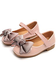 cheap -Girls' Shoes Leatherette Spring Comfort / Flower Girl Shoes Flats Bowknot / Magic Tape for Black / Gray / Pink
