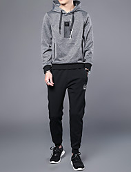 cheap -Men's Sports Hoodie - Solid Hooded