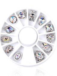 abordables -2 Bijoux à ongles Nail Glitter N/C Quotidien Autres Formel Soirée Nail Art Design