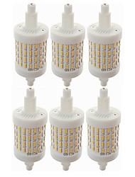 Недорогие -SENCART 6шт 8W 800lm R7S LED лампы типа Корн T 72 Светодиодные бусины SMD 4014 Декоративная Тёплый белый / Белый 85-265V