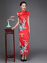 preiswerte -Cosplay Kleid A-Linie Kleid Pencil Kleid Party Kostüme Damen Fest / Feiertage Halloween Kostüme Tintenblau Fuchsie Weiß Blau Rot