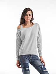 cheap -Women's T-shirt - Solid Off Shoulder