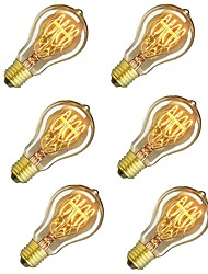 cheap -6pcs 60W E26 / E27 A60(A19) Warm White 2200-2700k Retro Dimmable Decorative Incandescent Vintage Edison Light Bulb 220-240V