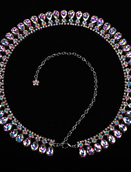 cheap -Belly Dance Ordinary Women's Training Performance Polyester Crystal Detailing Chain Modern Waist Accessory