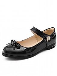 abordables -Femme Chaussures Similicuir Printemps / Automne Confort / Nouveauté Ballerines Talon Plat Bout rond Noeud Blanc / Noir / Rouge