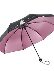 Недорогие -Ткань Все Солнечный и дождливой / Ветроустойчивый / новый Складные зонты