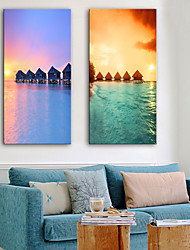 cheap -Stretched Canvas Prints Modern, Two Panels Canvas Vertical Print Wall Decor Home Decoration