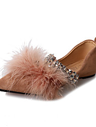 abordables -Femme Chaussures Gomme Hiver Confort Sabot & Mules Bout rond pour De plein air Noir Brun claire