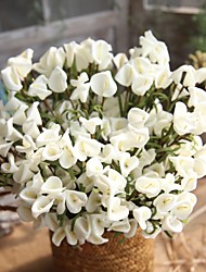 cheap -1 Branch Polyester Calla Lily Tabletop Flower Artificial Flowers