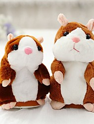 cheap -Little Talking Hamster Mouse Hamster Stuffed Animals Plush Toy Cute Walking Talking Vibrate Nods Repeats What You Say Electric Children's