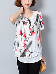 preiswerte -Damen Übergrössen T-shirt Lose Druck