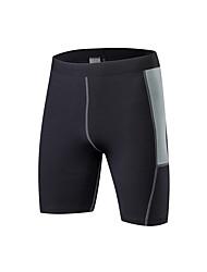 preiswerte -Herrn Laufschuhe Atmungsaktivität Shorts/Laufshorts Übung & Fitness Polyester Weiß Schwarz Blau Rot/Weiß Grau S M L XL XXL