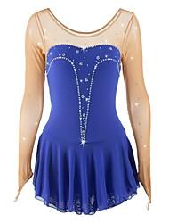 cheap -Figure Skating Dress Women's / Girls' Ice Skating Dress Blue Spandex Skating Wear Sequin Sleeveless Figure Skating