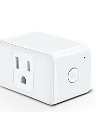 "billiga -Smart Plug Timing Funktion / No-Hub krävs / Kompatibel enhet 1pack PC / ABS Plug-in WiFi-Enabled / APP / Röstkontroll jobbar med Google Assistant / arbetar med ""Amazon Alexa Echo"