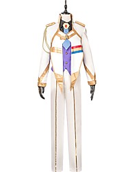 cheap -Inspired by Macross Frontier Cosplay Anime Cosplay Costumes Cosplay Suits Other Long Sleeves Coat Vest Shirt Pants More Accessories Tie
