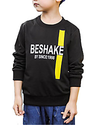cheap -Boys' Daily Solid Colored Print Hoodie & Sweatshirt, Cotton Polyester Spring Fall Long Sleeves Basic Black Yellow