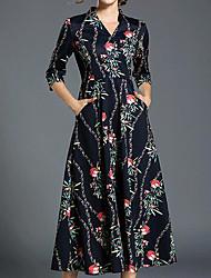 Dame Skede Kjole - Blomstret, Trykt mønster
