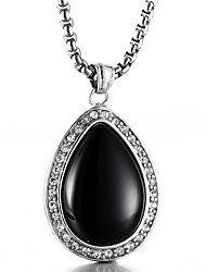 Недорогие -Муж. Cool Свисающие Синтетический сапфир Ожерелья с подвесками  -  На каждый день Мода Черный Синий Ожерелье Назначение Подарок Валентин