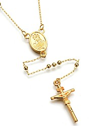 cheap -Men's / Women's Y Necklace  -  Cross Fashion Gold Necklace For Daily