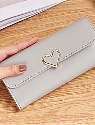 cheap -Women's Bags PU Wallet Buttons Blushing Pink / Gray