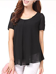 cheap -Women's Going out Street chic Loose Blouse - Solid Colored, Sequins