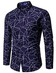 preiswerte -Herrn Geometrisch-Retro Hemd