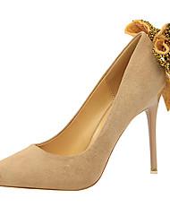 preiswerte -Damen Schuhe Pelz Frühling Herbst Pumps Gladiator High Heels Stöckelabsatz Spitze Zehe Glitter für Normal Party & Festivität Schwarz Grau