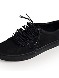 Homens sapatos Pele Pele Napa Primavera Outono Conforto Tênis para Casual Branco Preto