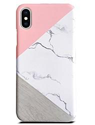 economico -Custodia Per Apple iPhone X iPhone 8 Plus Ultra sottile Per retro Effetto marmo Resistente PC per iPhone X iPhone 8 Plus iPhone 8 iPhone