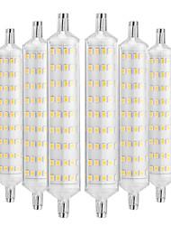 abordables -YWXLIGHT® 6pcs 12W 1000-1200lm R7S Ampoules Maïs LED 108 Perles LED SMD 2835 Décorative Blanc Chaud 220-240V