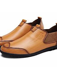 abordables -Homme Chaussures Cuir Printemps / Automne Confort Mocassins et Chaussons+D6148 Noir / Jaune / Marron