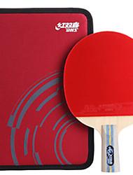 abordables -DHS® E606 Ping Pang/Tennis de table Raquettes Bois Caoutchouc 6 étoiles Manche Court Boutons