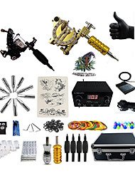 billige -Tattoo Machine Professionel Tattoo Kit - 2 pcs Tattoo Maskiner, Spænding Justerbar / Professionel LED strømforsyning Etui medfølger 2 x