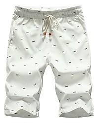 cheap -Men's Cotton Loose Shorts Pants - Print Basic