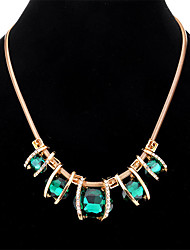 cheap -Women's Crystal Pendant Necklace / Statement Necklace  -  Drop Fashion, Elegant, Statement Dark Blue, Dark Green Necklace One-piece Suit For Party / Evening, Engagement