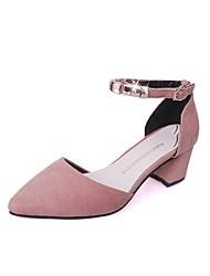 preiswerte -Damen Schuhe Kaschmir Herbst Komfort Stiefel Blockabsatz Runde Zehe Schnürsenkel für Schwarz / Armeegrün