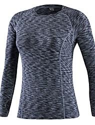 abordables -Femme Tee-shirt de Course Manches Longues Respirabilité Tee-shirt pour Exercice & Fitness Polyester Rouge / Bleu / Gris L / XL / XXL