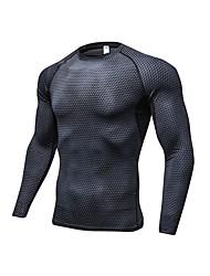 preiswerte -Herrn Laufshirt Langarm Atmungsaktivität T-shirt für Übung & Fitness Polyester Weiß Schwarz Blau Rot/Weiß Grau S M L XL XXL
