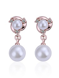 cheap -Women's Lovely Drop / Heart Crystal / Imitation Pearl Drop Earrings / With Gift Box - Fashion Rose Gold Earrings For Wedding / Daily