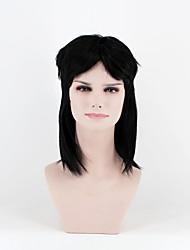 Недорогие -Парики из искусственных волос Прямой плотность Без шапочки-основы Жен. Черный Парик из натуральных волос Длинные Искусственные волосы