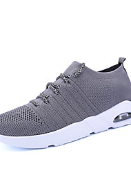cheap -Men's Shoes Knit Spring Summer Comfort Athletic Shoes Running Shoes for Athletic Outdoor Black Gray