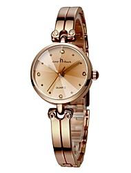 abordables -Femme Bracelet de Montre Chronographe Alliage Bande Luxe / Minimaliste Argent / Or Rose