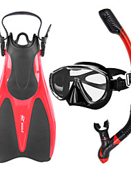 cheap -WHALE Diving Package / Snorkeling Set - Snorkel, Diving Fins, Diving Mask - Anti-Fog, Adjustable, Dry Top Diving, Swimming Silicone,