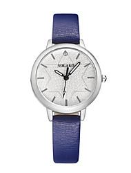 cheap -Women's Fashion Watch Quartz Casual Watch Leather Band Analog Fashion Minimalist Black / White / Blue - Red Pink Light Blue