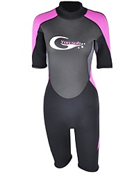 cheap -YON SUB Women's 3mm Shorty Wetsuit Swimming Neoprene Diving Suit Short Sleeves Diving Suits Spring, Fall, Winter, Summer Fashion