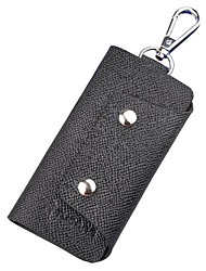 cheap -Cowhide Key Holder Buttons for Casual Office & Career All Seasons Black