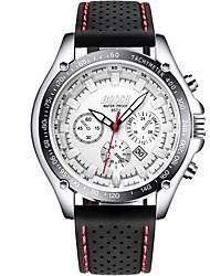 cheap -Men's Quartz Casual Watch Japanese Calendar / date / day Alloy PU Band Fashion Black White